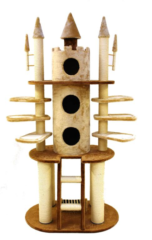 Count catula s grand castle giant cat scratch post for Castle cat tower
