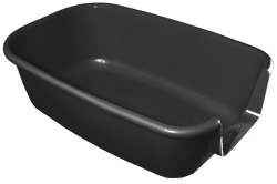 Extra large cat litter tray with tall sides to minimise scatter