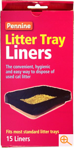 Cat litter liners to fit most sizes of cat litter tray