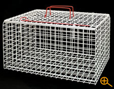 Large wire frame cat carrier top opening basket